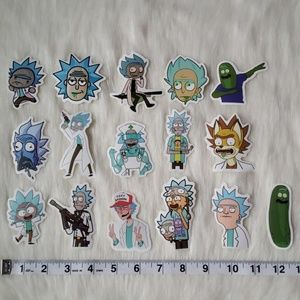 Rick Stickers, 16 Pieces